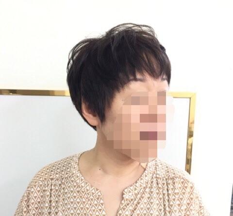 ショートヘアの縮毛矯正