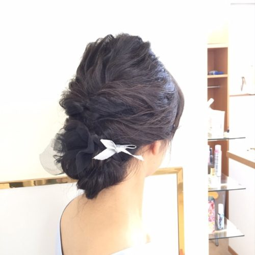 結婚式のヘアアレンジ♪