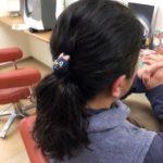1つ結びしてる髪にパーマを♪そしてハナヘナ!