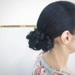 シンプルにまとめ髪