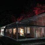旧島松駅逓所のライトアップ