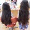 小学生の姉妹が揃ってヘアドネーション