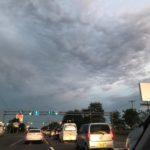 車窓からの夕焼け(≧∇≦)