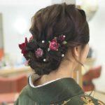 雪の卒業式。袴の着付けとヘアアレンジ