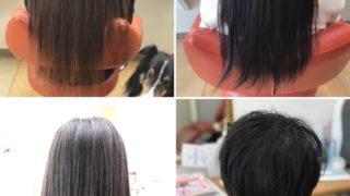 それぞれのヘアドネーション後の長さ