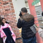 小学生の卒業式!袴姿で!