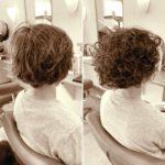 髪を伸ばすためにパーマ。
